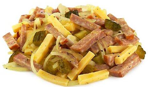 Салаты с колбасой копченой рецепты с