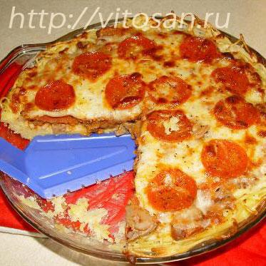 пирог с курицей рецепт с фото пошагово